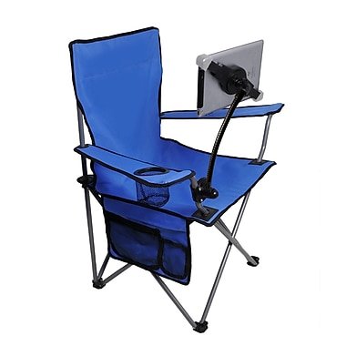 Folding Lawn Chair With Adjustable Tablet Stand