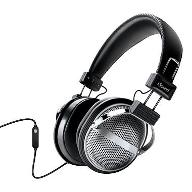 Écouteurs stéréo avec microphone sur le cordon et le volume, noir/argenté