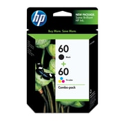 Emballage assorti de cartouches d'encre HP 60 noir/60 couleur, paq./2 (N9H63FN)