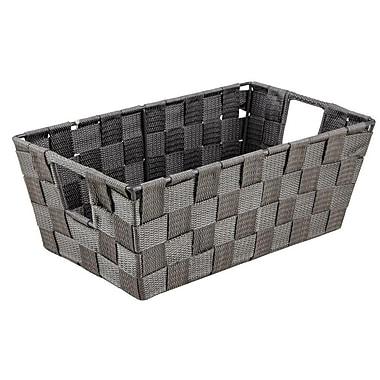 Simplify – Panier en polyester tissé, gris, 6,5 x 11 x 4,5 po