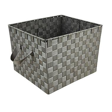 Simplify – Grand panier en polyester, gris, 13 x 15 x 10 (po)
