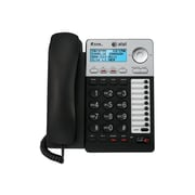 AT&T ML17929 2 Line Wired Speaker Telephone with Caller ID/Call Waiting, Black/Silver