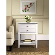 Altra Franklin Accent Table with 2 Drawers, White (5062096PCOM)