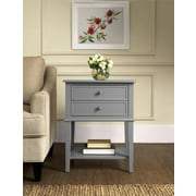 Altra Franklin Accent Table with 2 Drawers, Gray (5062196PCOM)