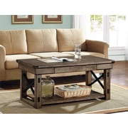 Altra Furniture Wildwood Wood/Veneer Coffee Table, Gray, Each (5056096PCOM)