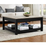 Altra Furniture Carver Medium Density Fiberboard Coffee Table, Black, Each (5047196PCOM)