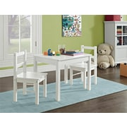 Cosco Hazel Kid's Table and Chairs Set, White (5827296PCOM)