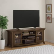 "Altra Oakridge 60"" TV Stand with Glass Doors, Homestead Oak"