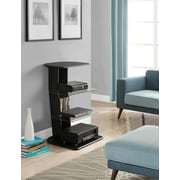 Altra Galaxy Audio Stand with Glass Shelves, Black (1319096)