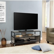 "Altra Mason Ridge Mobile 46"" TV Stand with Metal Frame, Sonoma Oak/Black"