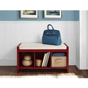 Altra Penelope Entryway Storage Bench with Cushion, Red