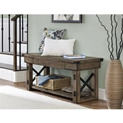 Altra Wildwood Wood Veneer Entryway Bench, Rustic Gray