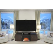 "Altra Carson 70"" Fireplace TV Console,  Cherry/Black (1766196PCOM)"