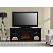 Altra Manchester Fireplace 70 inch TV Stand with Side Shelves, Black (1767096PCOM) by