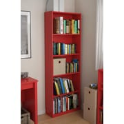Altra Core 5 Shelf Bookcase, Ruby Red (9425317PCOM)