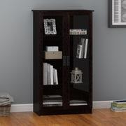 Altra Quinton Point Glass Door Bookcase, Espresso