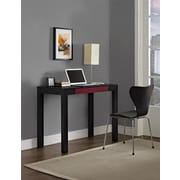 Parsons Desk with Drawer, Black/Red