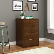 Altra Core 2 Drawer File Cabinet, Medium Brown