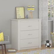 Cosco Riley 3 Drawer Dresser, White (5841015PCOM)