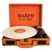 boytone  Mobile Briefcase Record Turntable, Brown (BT-101TBBR)