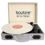 boytone  Mobile Briefcase Record Turntable, Gray (BT-101TBGR)