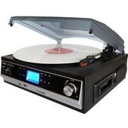 Boytone™ BT-16DJB-C 3-Speed Record/Cassette Turntable System, Black/Silver