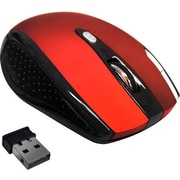 Premiertek (WM-104R) RF/USB Wireless Optical Mouse, Red