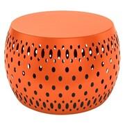Dar® Metal Garden Foot Stool, Tangerine Tango (21050072)
