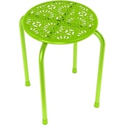 "Dar® Daisy 17 1/2"" Stackable Utility Stool, Lime Green, 2/Pack (38436109)"