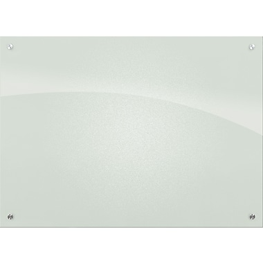 Best-Rite Enlighten Glass Dry-Erase Board, Frosted Pearl, 3' x 4;