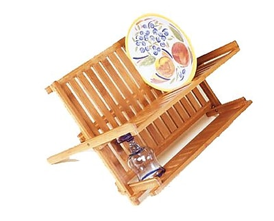Lipper Bamboo Folding Dishrack 1968948