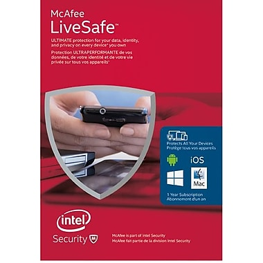 McAfee LiveSafe – Multi Device Security, 1-Year Subscription