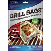 Jaccard Aluminum Foil Grill/Oven QBag (Set of 3); 11 inch H x 7 inch W by