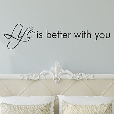 Belvedere Designs LLC Life Is Better w/ You Quote Wall Decal (Set of 101) WYF078278502956