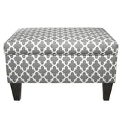 MJLFurniture Brooklyn Upholstered Square Legged Box Storage Ottoman