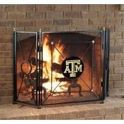 HensonMetalWorks NCAA 3 Panel Steel Fireplace Screen; Texas A & M University