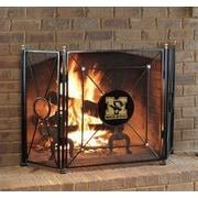 HensonMetalWorks NCAA 3 Panel Steel Fireplace Screen; University of Missouri