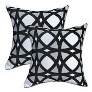 Big Tree Furniture Mosaic Black Throw Pillow (Set of 2)