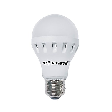 Northern Stars 80082 LED Light Bulb, A19 13W, Dimmable, Frosted, White, 2/Pack