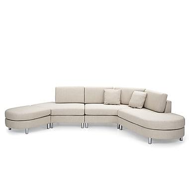 Beliani COPENHAGEN Corner, Sectional Sofa, Couch, 5 Seater, Upholstered, Beige