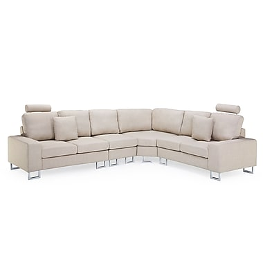 Beliani STOCKHOLM Corner, Sectional Sofa, Couch, Upholstered, Beige