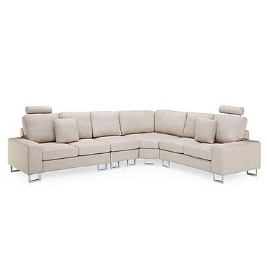 Beliani – Canapé d'angle STOCKHOLM, ensemble modulaire, canapé, revêtement en tissu, beige