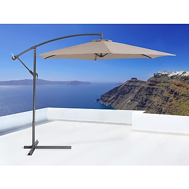 Beliani CAVALLI Outdoor Cantilever Patio Umbrella, Mocca