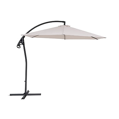 Beliani ASTI II Cantilever Garden Parasol Side Post Umbrella, Beige