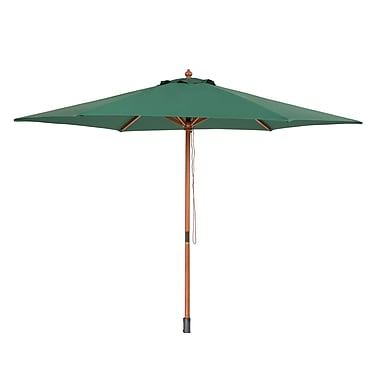 Beliani TOSCANA Wooden Market Garden Parasol Umbrella, Green