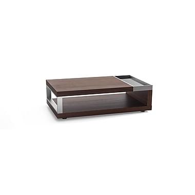 Beliani – Table à café FARO, cadre en aluminium, 120 x 70 cm, noyer