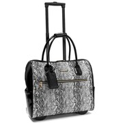 "Cabrelli & Co. Vicky Viper 15"" Rolling Laptop Bag, Black/White"