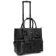 "Cabrelli & Co. Pilar Croco 15"" Rolling Laptop Bags"