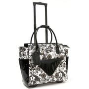 "Cabrelli & Co. Camilla Clutch 15"" Rolling Laptop Bag, Black/White"