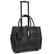"Cabrelli & Co. Gloria Gold 15"" Rolling Laptop Bag, Black"